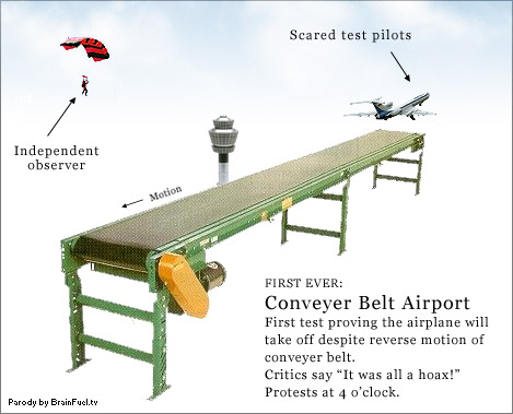 conveyer belt airport takeoff