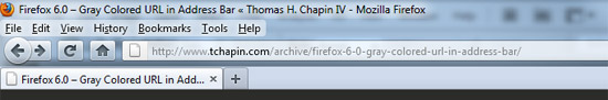 Firefox 6.0 Address Bar